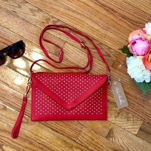💌 Red Gold Studded Envelope Clutch 💌